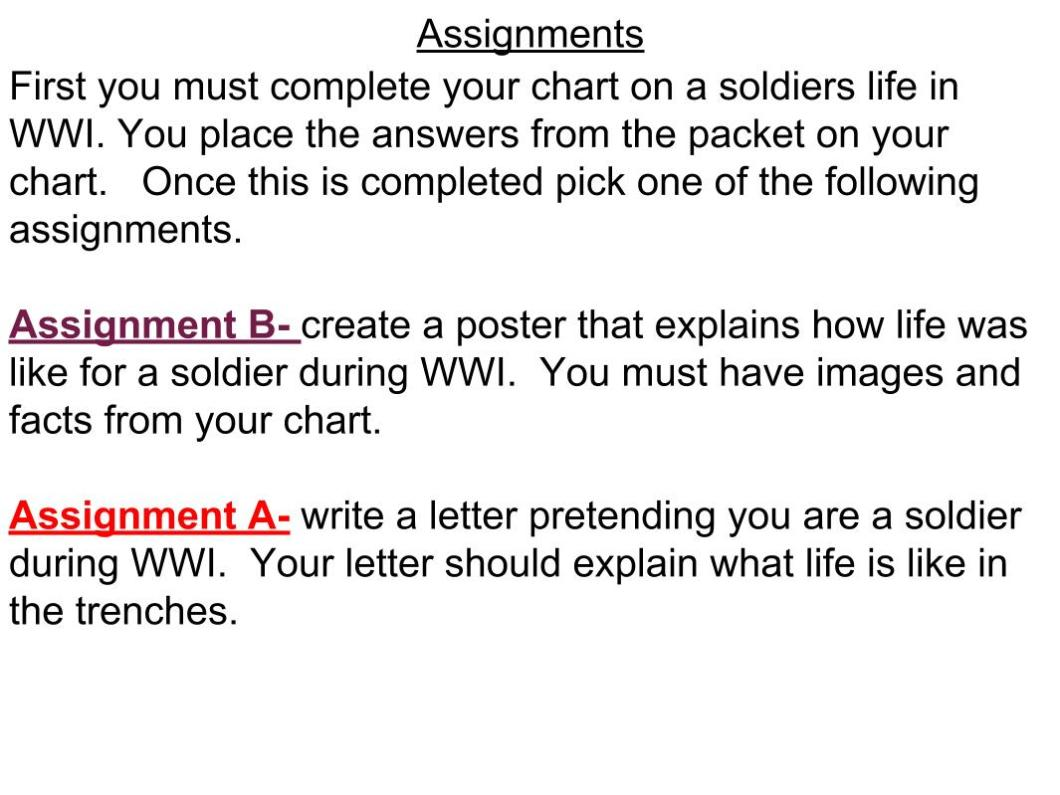 Letter From The Trenches Rubric Wwi Trench Diagram Poster Due 3 23 Mr D S Grade 8 Ss